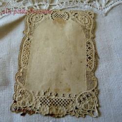 Image pieuse, canivet doré, holy card