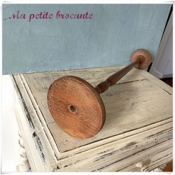 Porte chapeau ancien en bois tourné perruque mode