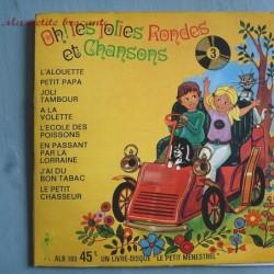 Livre disque le petit menestrel Oh ! les jolies rondes et chansons