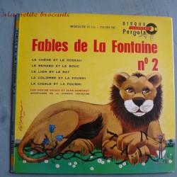 Livre disque illustré Pergola Les fables de la Fontaine n°2