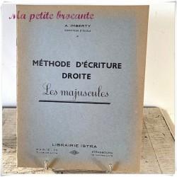 Méthode d'écriture droite les majuscules A. Imberty librairie Istra