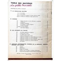 Manuel de sécurité rurale J. Petit et P. Boucher éditions Bourrelier