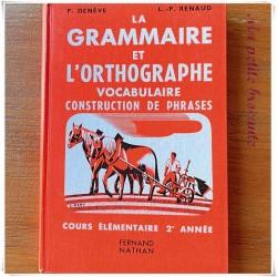 La grammaire et l'orthographe CE2 P. Denève LP Renaud