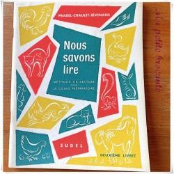 Nous savons lire CP Pradel Chaulet Sevenans Sudel