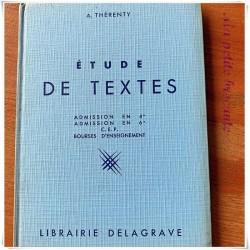 Etude de textes admission en 4° en 6° CEP A. Thérenty