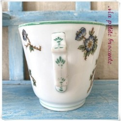 Tasse brûlot XIXème décor floral en porcelaine de Paris