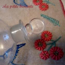 Ballon à distiller à décanter ancien Pyrex verrerie laboratoire chimie