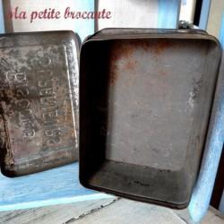 Boîte ancienne en tôle Biscuits supérieurs
