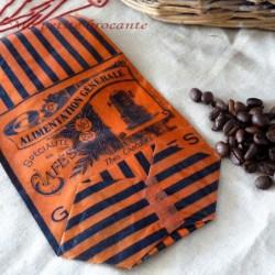 Ancien sachet épicerie ancienne alimentation générale spécialités de café, thés, chocolats, vanilles
