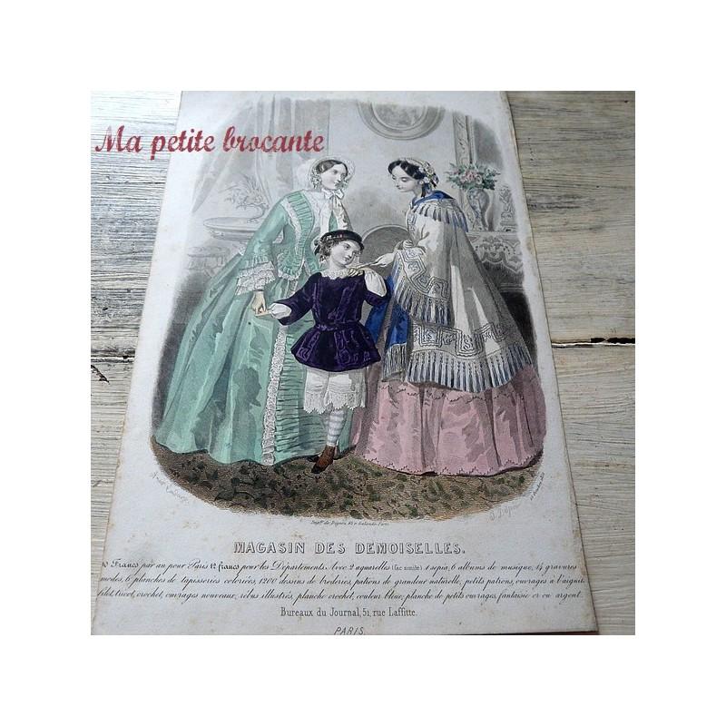 Planche de mode du magasin des demoiselles