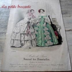 Planche de mode du journal des demoiselles modes de Paris