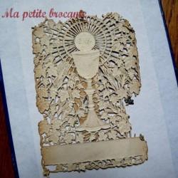 Image pieuse canivet première communion