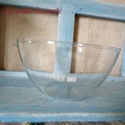 Ancien bol verseur verrerie laboratoire chimie Pyrex