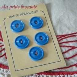 Lot de 5 boutons anciens sur plaque