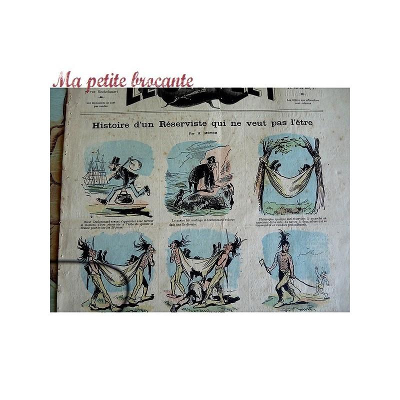 Journal Le Sifflet Histoire d'un réserviste qui... 30 juillet 1876