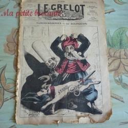 Journal satirique Le Grelot Turcocasseries par Bourgevin Juillet 1870