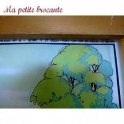 Affiche scolaire pédagogique n° 5 et 6 Le canal de Briare et le colloque de Poissy