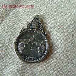 Belle médaille religieuse souvenir de Rome pape Pie XI Pivs Pont. Max