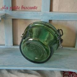 Bocal de conserve ancien en verre épais et bullé 250 Gr