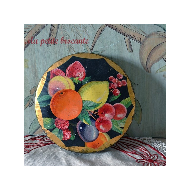 Belle boîte en tôle art déco confiserie Cénou Grenoble