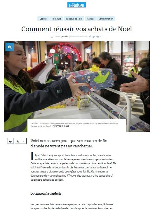 Le parisien - Comment réussir vos achats de Noel