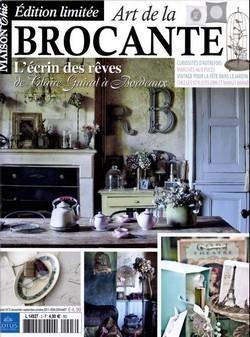 Revue Maison chic couverture Edition limitée art de la brocante - Ma petite brocante
